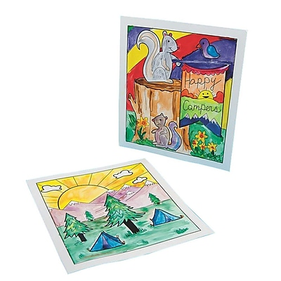 S&S Worldwide Camp Scene Watercolor Craft Kit, 36/Pack