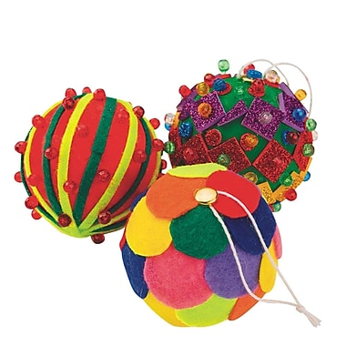 S&S Worldwide Holiday Ornament Craft Kit, 72/Pack