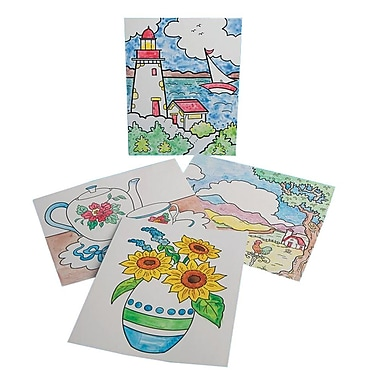 S&S Worldwide Paint-a-Dot Everyday Scenes Craft Kit, 24/Pack
