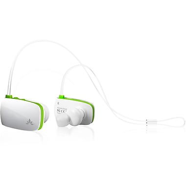 Avantree Sacool Lightweight Bluetooth Headphones with Microphone, White/Green (BTHS-AS8-Q-WGR)