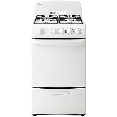Danby 2.40-Cubic feet Gas Range with 4 Burners White