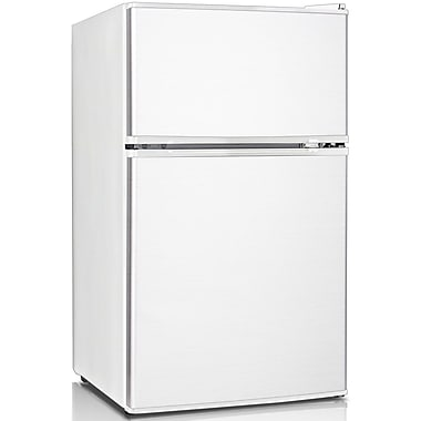 Keystone Energy Star Compact 3.1 cu. Ft 2-Door Refrigerator/Freezer (KSTRC312CW)