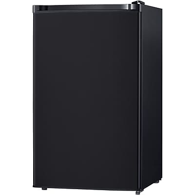Keystone Energy Star 4.4-Cubic Feet Single-Door Refrigerator with Freezer, Black