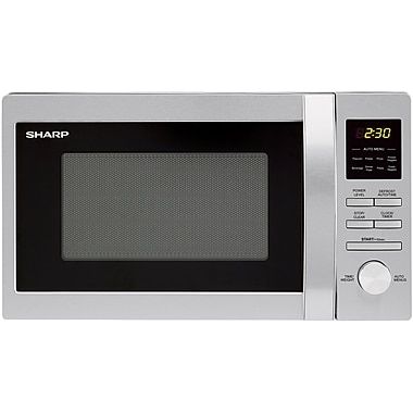 Sharp 0.7-Cubic feet Stainless Steel Countertop Microwave Oven Silver