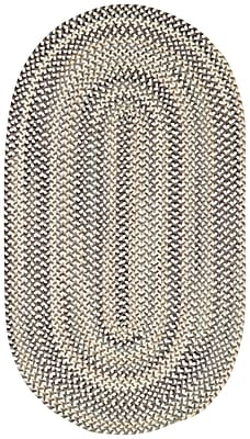 Capel Sherwood Forest Smoke Area Rug; Oval 2' x 3'