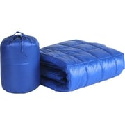 PUFF Ultra Light Indoor/Outdoor w/ Compact Travel Bag Throw; Electric Blue