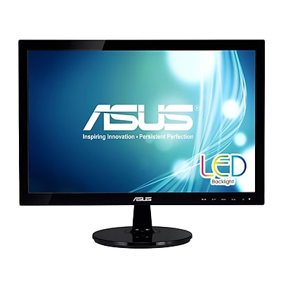 ASUS® VS197T-P WXGA Adjustable Widescreen LED LCD Monitor, 18.5