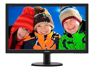 "Philips Monitor 24"" Class Full HD 1920x1080 VGA DVI-D SmartControl Lite VESA 4 Year Warranty 243V5LSB"