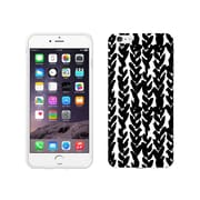 Centon OTM Black/White Collection Case for iPhone 6 Plus, White Glossy, Hearts