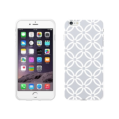Centon OTM Elm Collection Case for iPhone 6 Plus, White Glossy, Gray