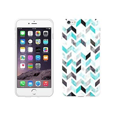 Centon OTM Ziggy Collection Case for iPhone 6 Plus, White Glossy, Aqua