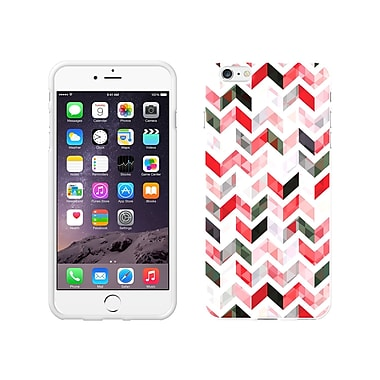 Centon OTM Ziggy Collection Case for iPhone 6 Plus, White Glossy, Red
