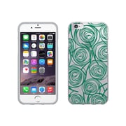 OTM Essentials Classic Prints Clear Phone Case for Use with iPhone 6 Plus, New Age Swirls of Jade (IP6PCLR-AGE-02V2)
