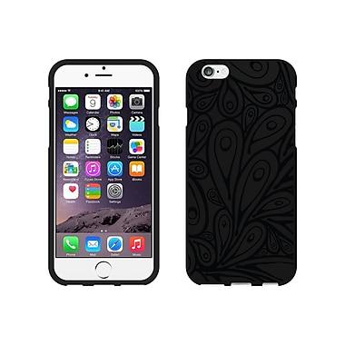 Centon OTM Black/Black Collection Case for iPhone 6, Black Matte, Petals