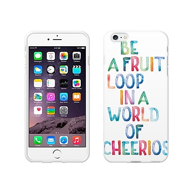 Centon OTM Quote Collection Case for iPhone 6 Plus, White Glossy, Fruit Loop