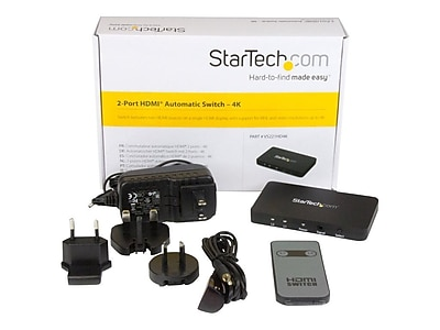 StarTech Automatic Audio/Video Switchbox for Projector/Smartphone (VS221HD4K)