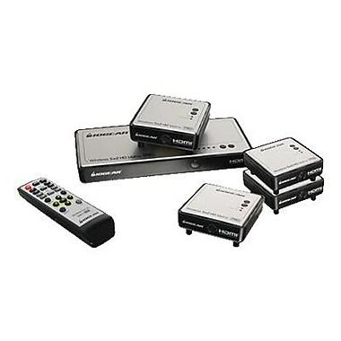 Iogear ® GWHDMS52MBK4 Long Range Wireless 5 x 2 HDMI Matrix Pro Switch with 3 Additional Receiver