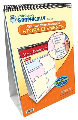 NewPath Learning Thinking Graphically About Reading Comprehension Story Elements Flip Chart Set