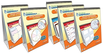 NewPath Learning 5 Piece Thinking Graphically About Reading Comprehension Flip Chart Set