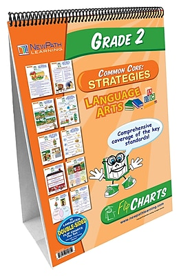NewPath Learning English Language Common Core Curriculum Mastery Flip Chart Set, Grade 2