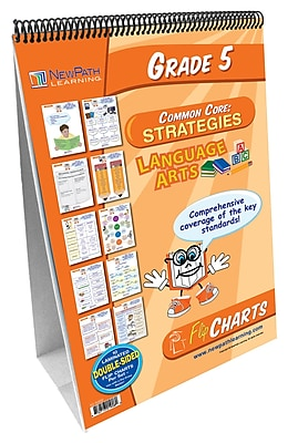 NewPath Learning English Language Common Core Curriculum Mastery Flip Chart Set, Grade 5