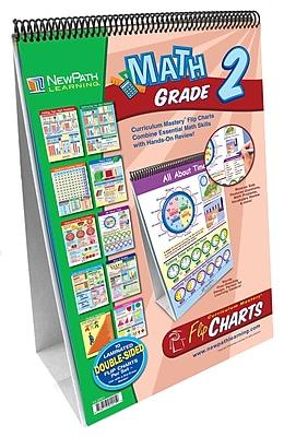 NewPath Learning Math Curriculum Mastery Flip Chart Set, Grade 2