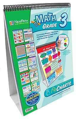 NewPath Learning Math Curriculum Mastery Flip Chart Set, Grade 3