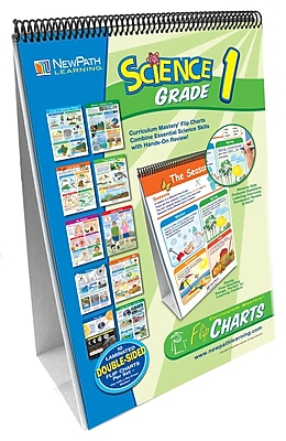 NewPath Learning Science Curriculum Mastery Flip Chart Set, Grade 1