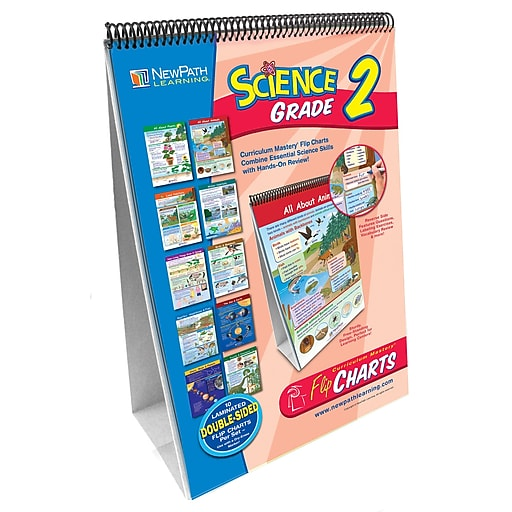 NewPath Learning Science Curriculum Mastery Flip Chart Set, Grade 2
