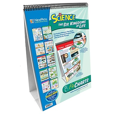 NewPath Learning 10-piece Science Six Kingdoms of Life Curriculum Mastery Flip Chart Set, Grade 6-9