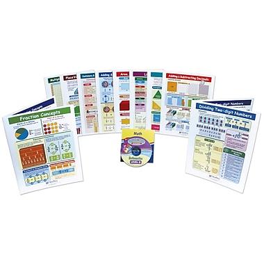 10 Piece Mastering Math Visual Learning Guides Set Grade 4