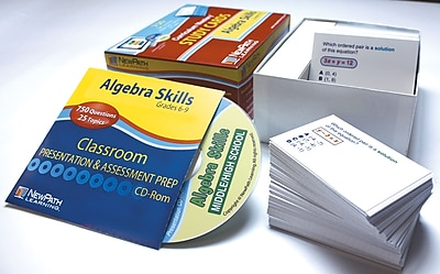 Algebra Skills Study Card Grade 6-10