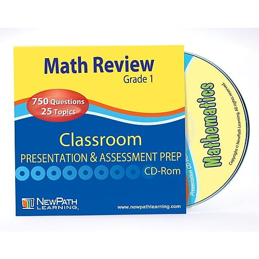 Mastering Math Skills - Grade 1 Interactive Whiteboard CD - Site Licens