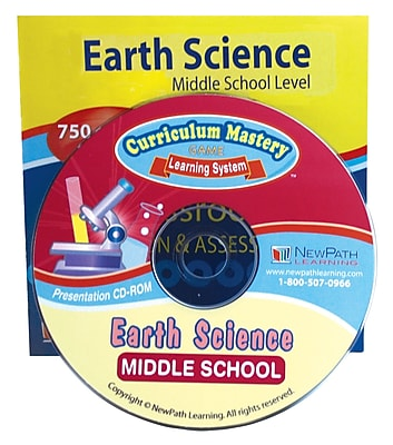 NewPath Learning Middle School Earth Science Interactive Whiteboard CD-ROM