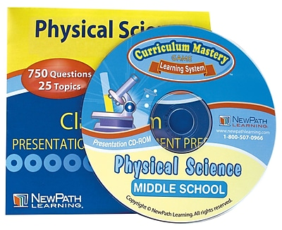 NewPath Learning Physical Science Interactive Whiteboard, CD-ROM, Grade 6-9