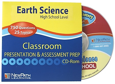 NewPath Learning Earth Science Review Interactive Whiteboard CD-ROM High School