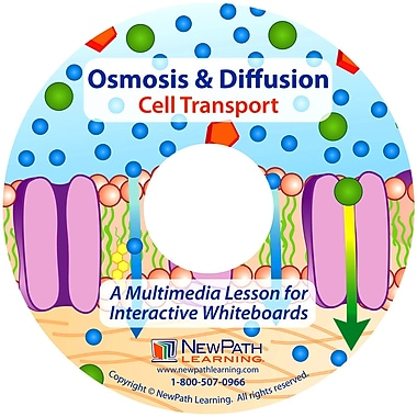 NewPath Learning Osmosis & Diffusion Cell Transport Multimedia Lesson, Single-building Site License, Grade 6-10