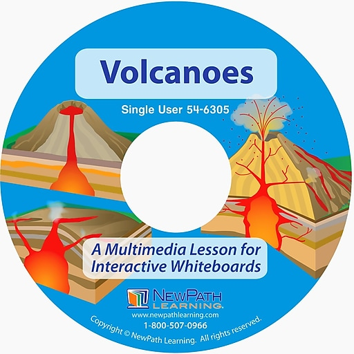 NewPath Learning Volcanoes Multimedia Lesson Single User License