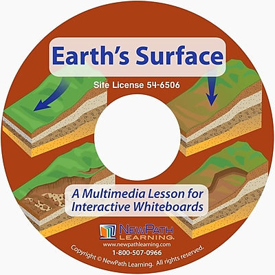 NewPath Learning Earth's Surface Multimedia Lesson, Grade 6-10
