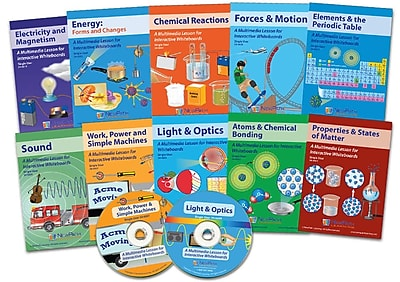 NewPath Learning 10 Piece Complete Physical Science Multimedia Lesson Set