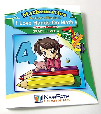 I Love Hands-On Math Reproducible Workbook Grade 4