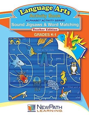 NewPath Learning Alphabet Activity Series - Sound Jigsaws & Word Matching Workbook