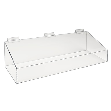 24 x 8 inch Extra Support Tray with High Wall Clear, 2/Pack
