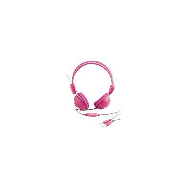 Urban Factory Crazy Headphone With Audio and Micro Jack Plugs For PC, Pink
