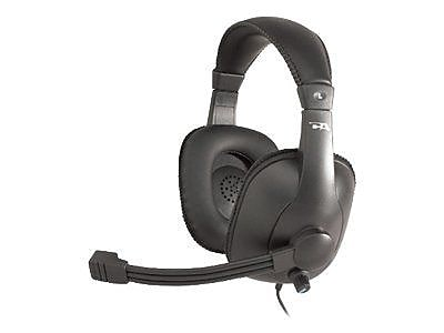 Cyber Acoustics Pro Grade Over-the-Head Headset With Microphone, Black