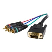 StarTech 3' HD15 To Component RCA Male/Male Breakout Cable Adapter