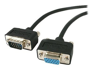 StarTech 15' Coax High Resolution Low Profile HD15 Male/Female VGA Monitor Extension Cable