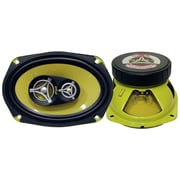 Pyle® Gear PLG69.3 360 W Pair Of Three-Way Speakers, Yellow
