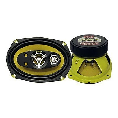 Pyle® Gear PLG69.5 450 W Pair Of Five-Way Speakers, Yellow