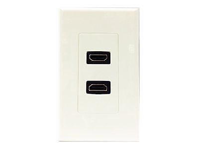 4XEM™ 2 Outlet Female HDMI Wall Plate, White